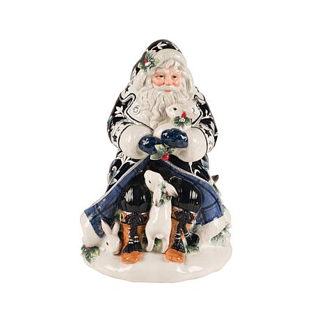Fitz and Floyd Bristol Holiday Santa Cookie Jar
