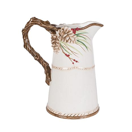 Fitz and Floyd Forest Frost Pitcher