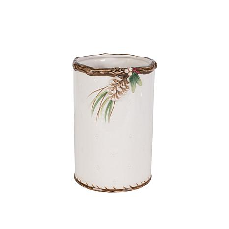 Fitz and Floyd Forest Frost Utensil Holder