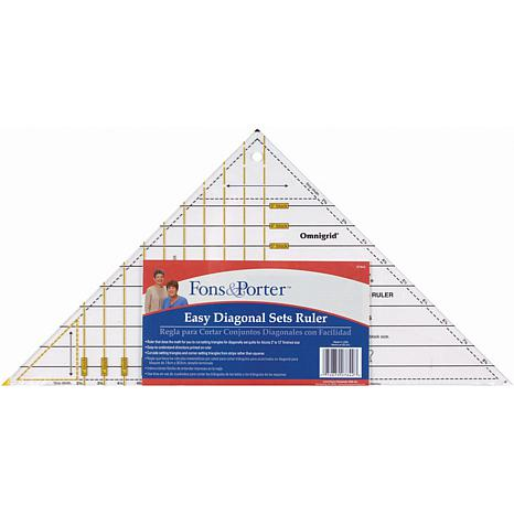 Fons and Porter Easy Diagonal Sets Ruler
