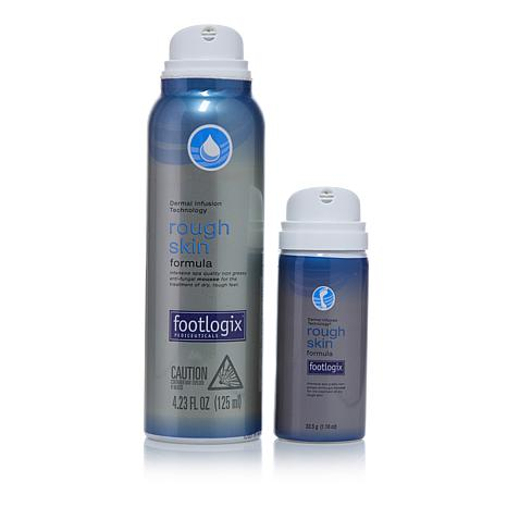 Footlogix® Rough Skin Mousse Full Size & Travel Size 2-pack