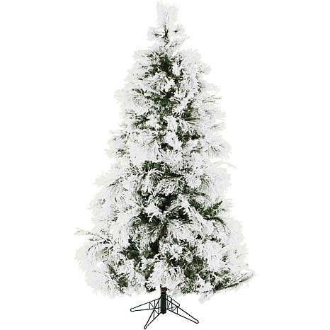 Fraser Hill Farms 12' Flocked Snowy Pine Tree