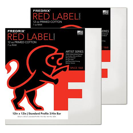 "Frederix Red Label Stretched Cotton Canvas - 12"" x 12"""