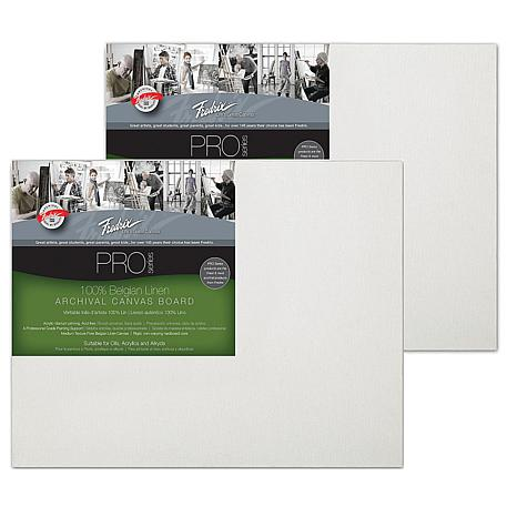 "Fredrix 11"" x 14"" Archival Linen Canvas Boards - 2-pack"