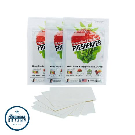 FreshPaper 3pk of 8ct Produce-Saver Sheets Auto-Ship®