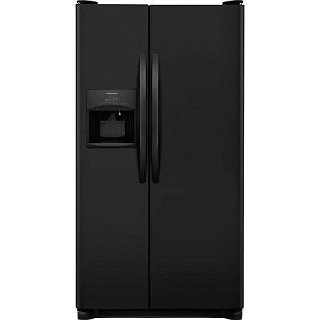 Frigidaire 25.5 Cu. Ft. Side-by-Side Refrigerator - Ebony Black