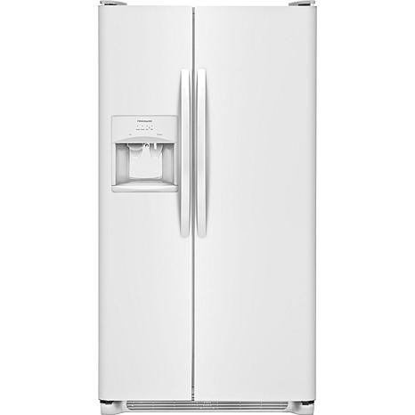 Frigidaire 25.5 Cu. Ft. Side-by-Side Refrigerator - Pearl White
