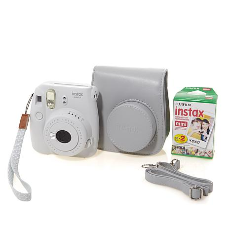Fujifilm instax mini 9 instant film camera with groovy for Housse instax mini 9