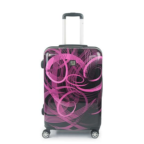 """FUL Atomic 24"""" Spinner Rolling ABS Hard-case Suitcase"""