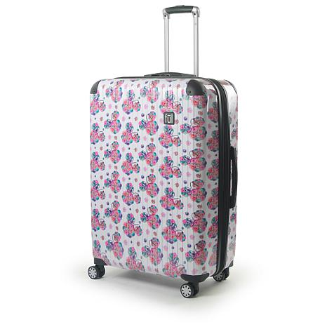 """FUL Disney Minnie Mouse  Floral 29"""" Printed Hard-sided Rolling Luggage"""