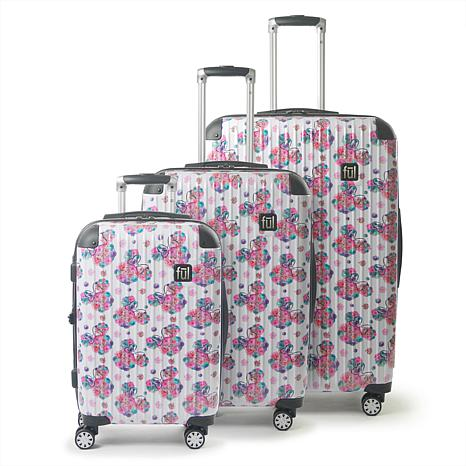 FUL Disney Minnie Mouse Floral Hard-Sided 3-piece Luggage Set