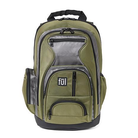 FUL Free Fallin' Green Padded Laptop Backpack