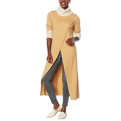 G by Giuliana Black Label Crossover Maxi Sweater