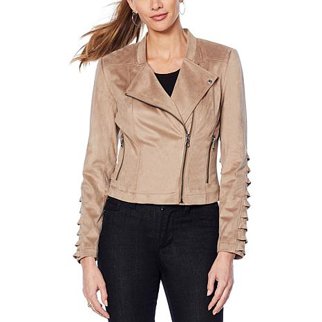 G by Giuliana Faux Suede Moto Jacket