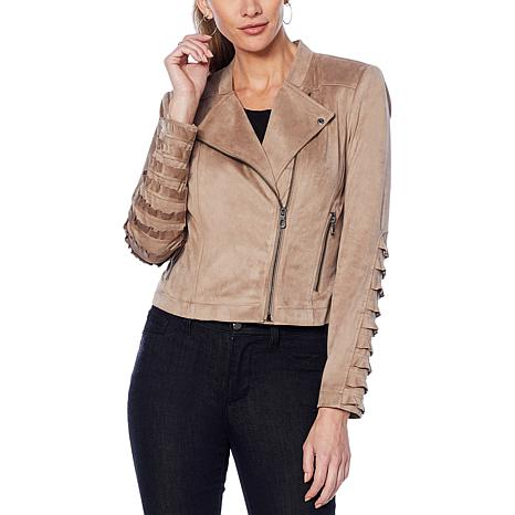 df055ff2e04 G by Giuliana Faux Suede Moto Jacket - 8835774