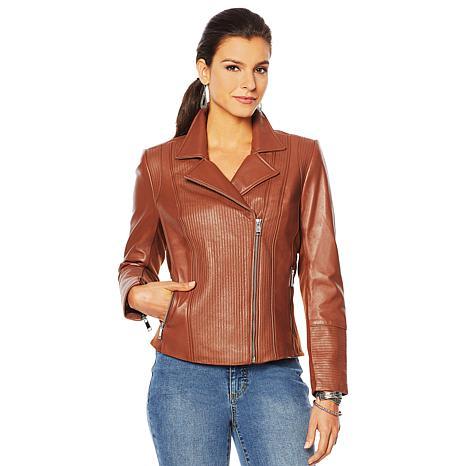 G by Giuliana Genuine Leather Moto Jacket
