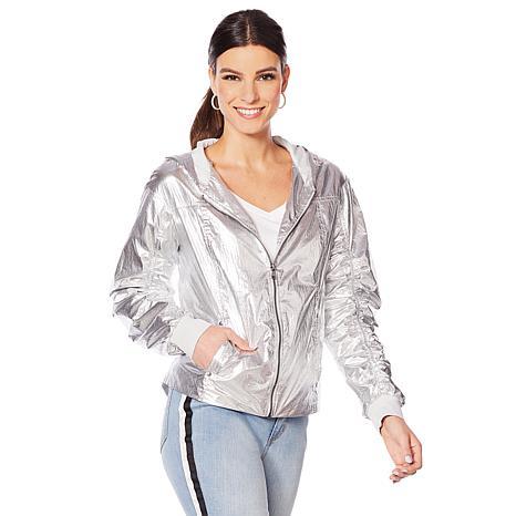 G by Giuliana Metallic Hooded Jacket