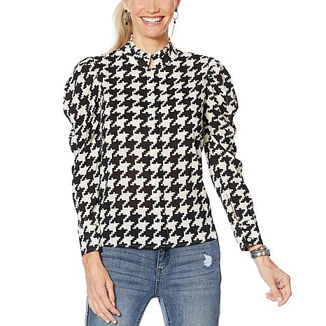 G by Giuliana Printed Chiffon Blouse