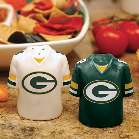 Gameday Ceramic Salt and Pepper Shakers - Packers