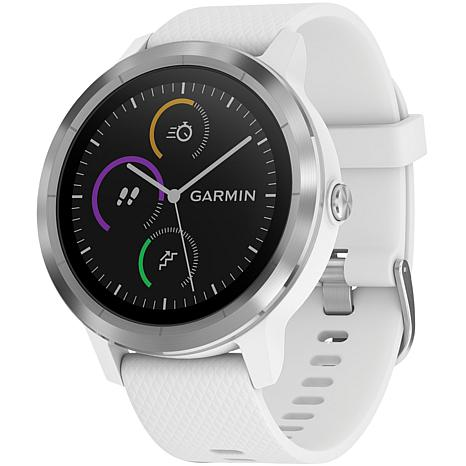Garmin vivoactive® 3 Smartwatch - White with Stainless Hardware