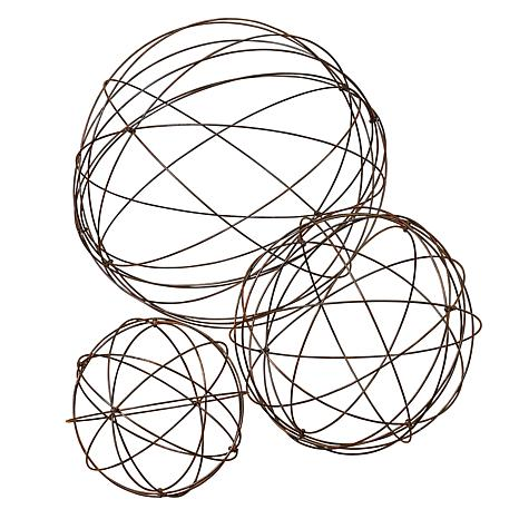 Gerson Assorted Sized Wire Garden Spheres 3-pack