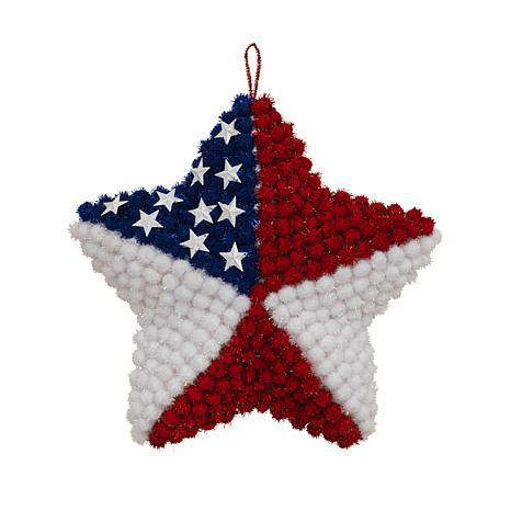 Gerson Pom Pom American Star Wall Décor 2-pack