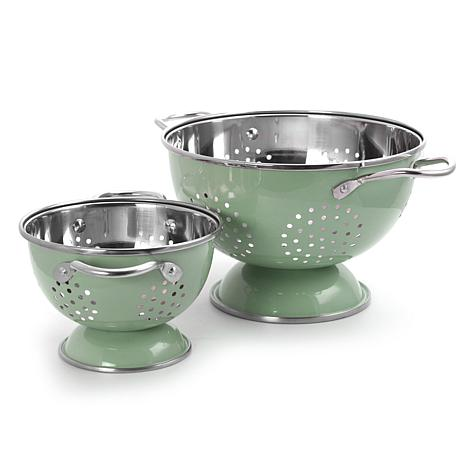 Gibson Coffee House 2pc Colander and  Strainer Set in Mint