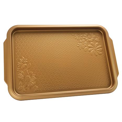 Gibson Country Kitchen 15 Inch Cookie Sheet Copper Embossed Carbon ...