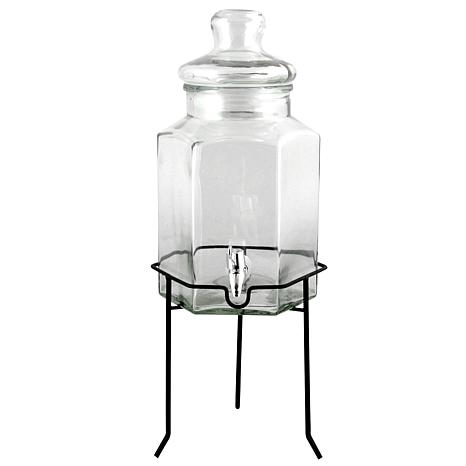 Gibson Home Antique Bay 1.3 Gallon Glass Beverage Dispenser with Wi...