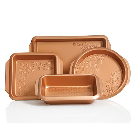 Gibson Home Colin 4-piece Bakeware Set in Copper
