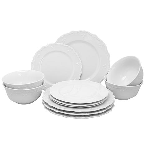 Gibson Home Elite Circle Scallop Buffet 12-piece Dinnerware Set