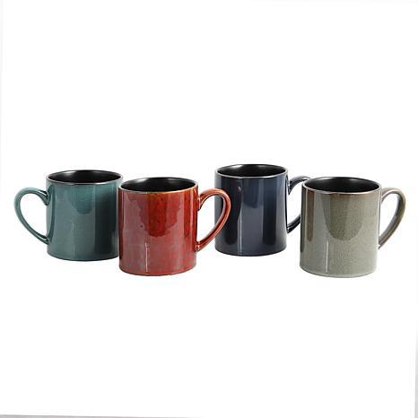 Gibson Home SkyScraper 4-piece  20 oz. Mug Set in Assorted Colors