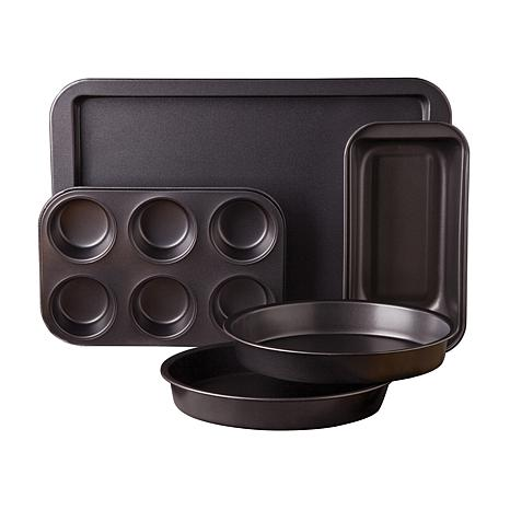 Gibson Love-to-Bake 5 Piece  Xylan Nonstick Carbon Steel Bakeware Set