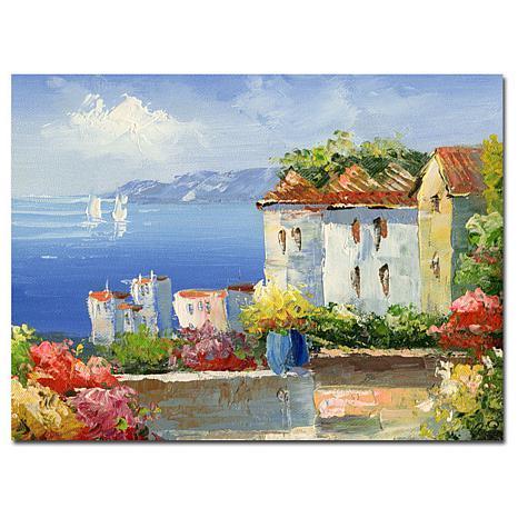 """Giclee Print - Mediterranean Villa 26"""" x 32"""""""