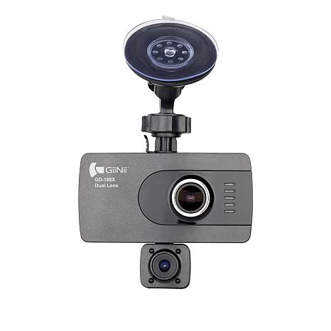 Giinii 1080p Full HD Dual-Lens Dash Cam with 16GB microSDHC Card