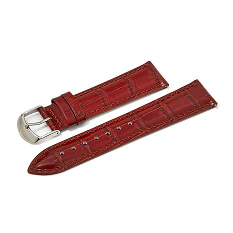 Giorgio Milano Burgundy  Croco-Leather Watch Strap