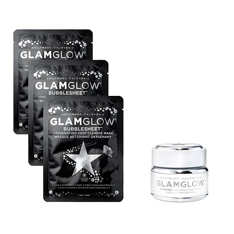 GLAMGLOW Bubblesheet Mask and SUPERMUD Set