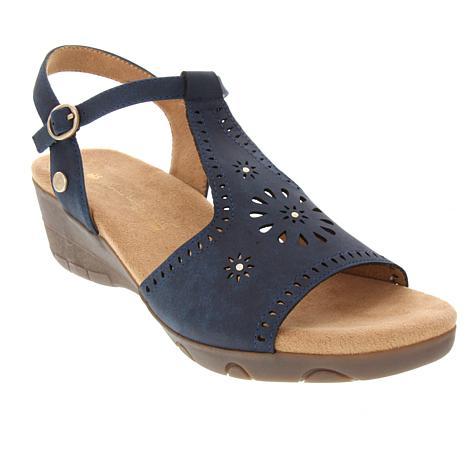 Gloria Vanderbilt Kora Wedge Sandal with Cutouts