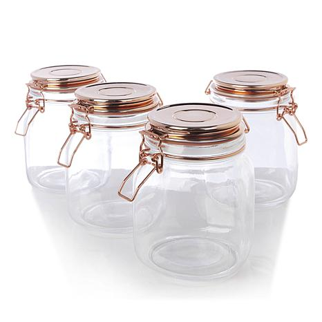Go Green by Kinetic 4-pack 35 oz. Copper Canning Jars