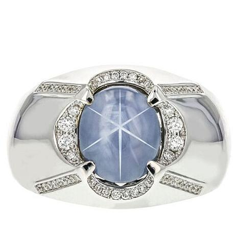 Popular Gold & Diamond Source® 14K White Gold 5.26ctw Star Sapphire and  DT55