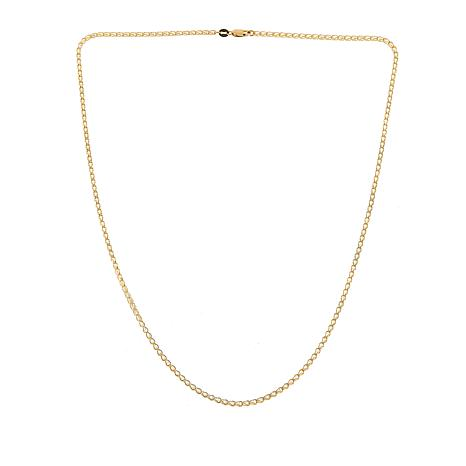 """Golden Treasures 14K Italian Gold Crystal Cage Link Chain - 19-1/4"""""""