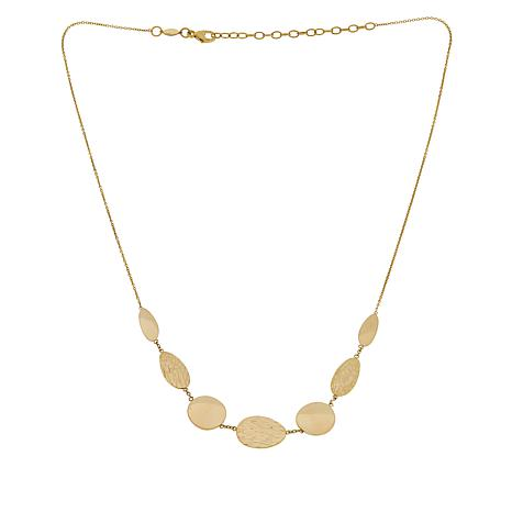 Golden Treasures 14K Italian Gold Multi-Shaped Necklace