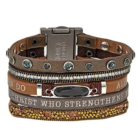 Good Work S His Promise Never Fails Leather Strap Bracelet