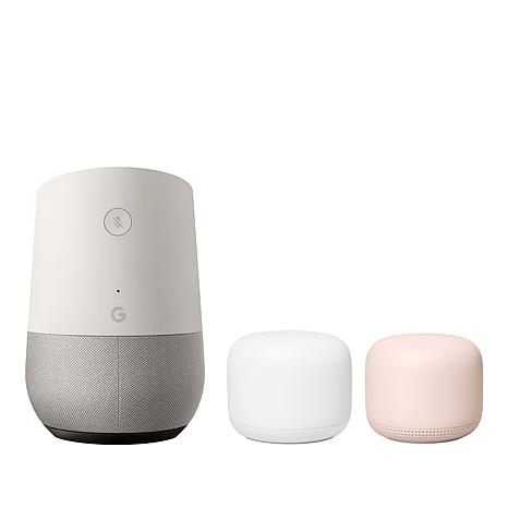 Google Nest Wi-Fi Router with Wi-Fi Point and Google Home Speaker