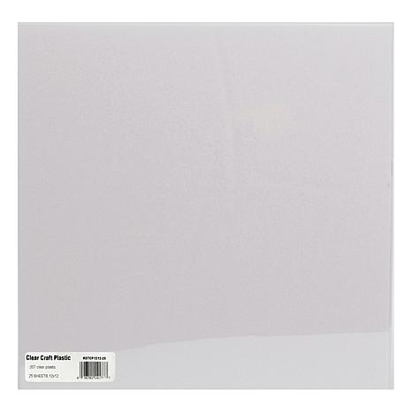 "Grafix Craft Plastic Sheets 25-pack - .007"" Clear"