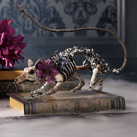 Grandin Road KC Jeweled Skeleton Rat
