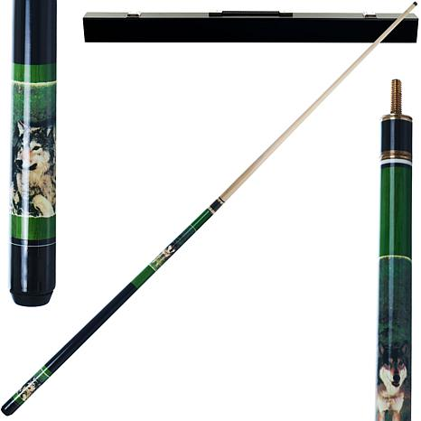 Gray Wolf Hardwood 2-piece Pool Cue with Case