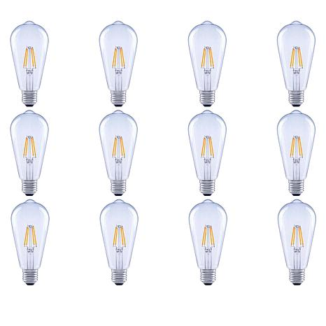 GVL 40-Watt ST19 Soft White LED Bulbs with Clear Finish - 12-pack