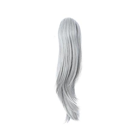 "Hair2Wear Christie Brinkley Clip-In Pony -13"" Lt Gray"