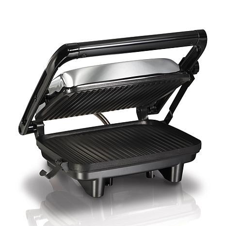 hamilton beach panini press gourmet sandwich maker 8314106 hsn. Black Bedroom Furniture Sets. Home Design Ideas